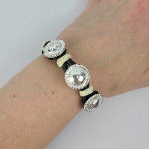 Western Black & Cream Chord Bracelet